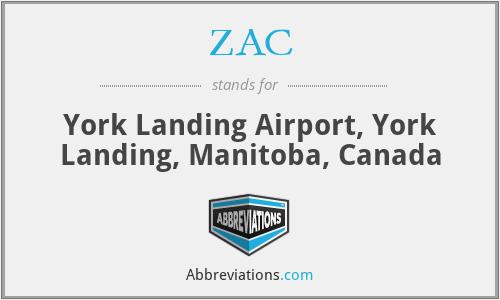 ZAC - York Landing Airport, York Landing, Manitoba, Canada