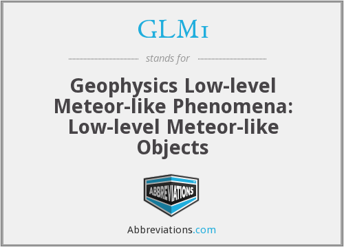 What does GLM1 stand for?