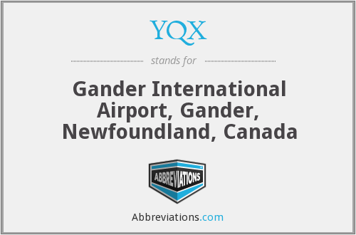 YQX - Gander International Airport, Gander, Newfoundland, Canada