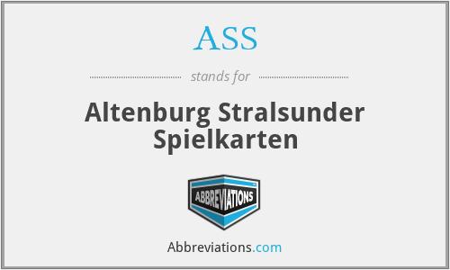 ASS - Altenburg Stralsunder Spielkarten
