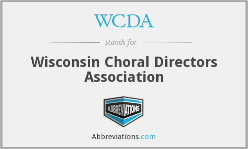 WCDA - Wisconsin Choral Directors Association