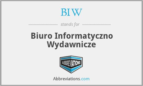 BIW - Biuro Informatyczno Wydawnicze