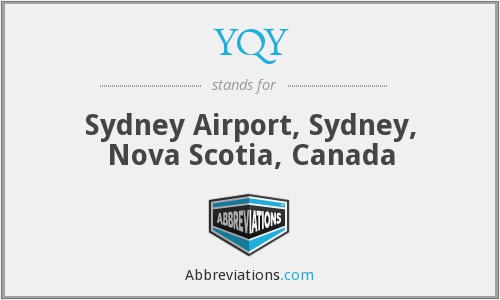 What does YQY stand for?