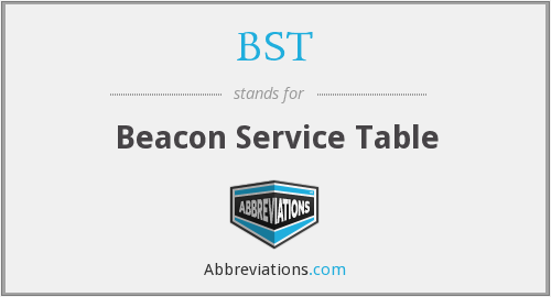 BST - Beacon Service Table