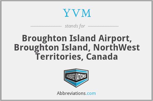 YVM - Broughton Island Airport, Broughton Island, NorthWest Territories, Canada