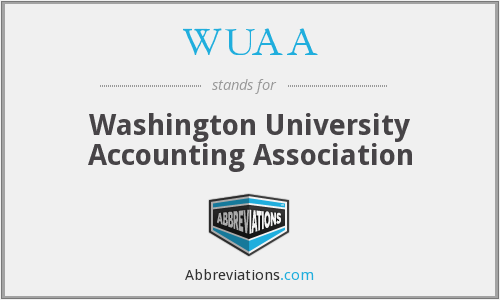 WUAA - Washington University Accounting Association
