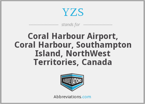 YZS - Coral Harbour Airport, Coral Harbour, Southampton Island, NorthWest Territories, Canada