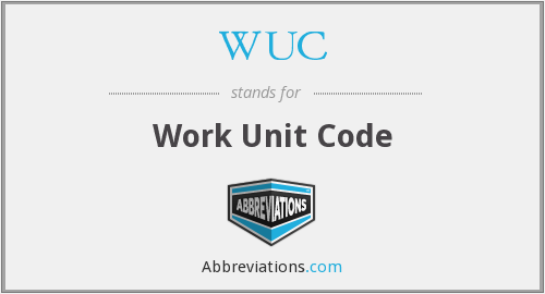 WUC - Work Unit Code