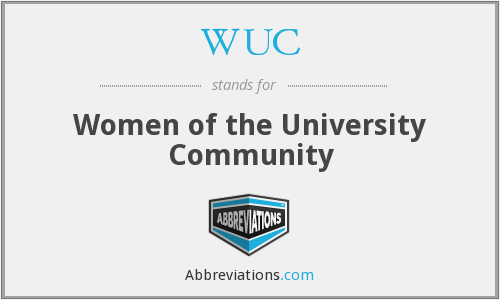 WUC - Women of the University Community