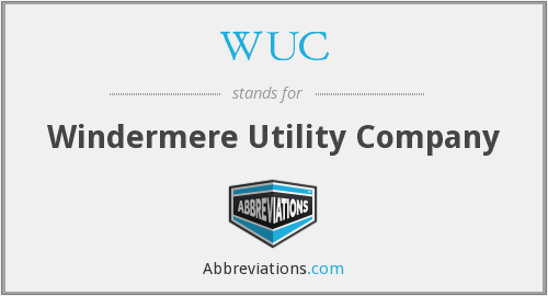 WUC - Windermere Utility Company