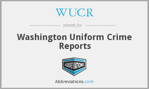 WUCR - Washington Uniform Crime Reports