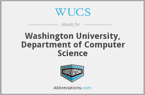 WUCS - Washington University, Department of Computer Science