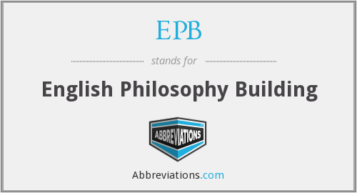 EPB - English Philosophy Building