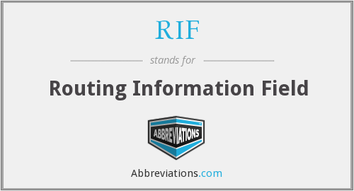 RIF - Routing Information Field