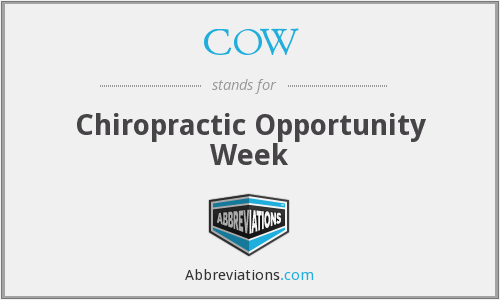 COW - Chiropractic Opportunity Week