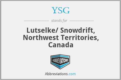 YSG - Lutselke/ Snowdrift, Northwest Territories, Canada