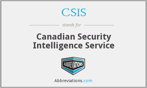What is the abbreviation for Canadian Security Intelligence Service?