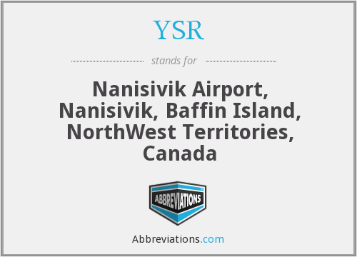 YSR - Nanisivik Airport, Nanisivik, Baffin Island, NorthWest Territories, Canada