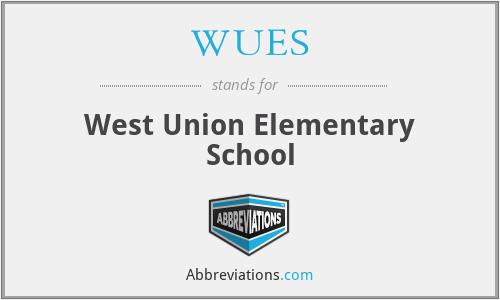 WUES - West Union Elementary School
