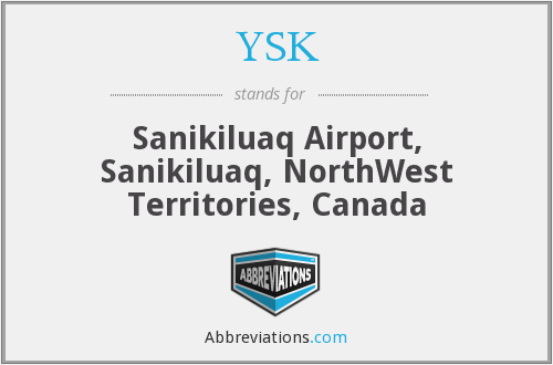 YSK - Sanikiluaq Airport, Sanikiluaq, NorthWest Territories, Canada