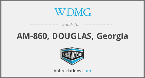 What does WDMG stand for?