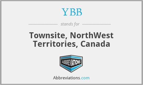 YBB - Townsite, NorthWest Territories, Canada
