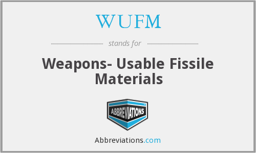 WUFM - Weapons- Usable Fissile Materials