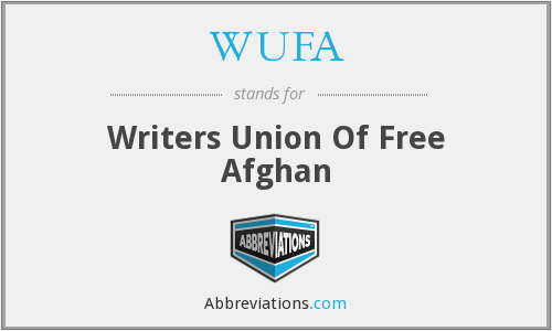 WUFA - Writers Union Of Free Afghan