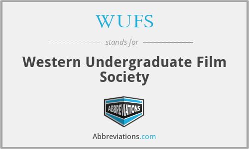 WUFS - Western Undergraduate Film Society