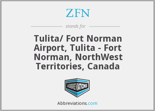 ZFN - Tulita/ Fort Norman Airport, Tulita - Fort Norman, NorthWest Territories, Canada