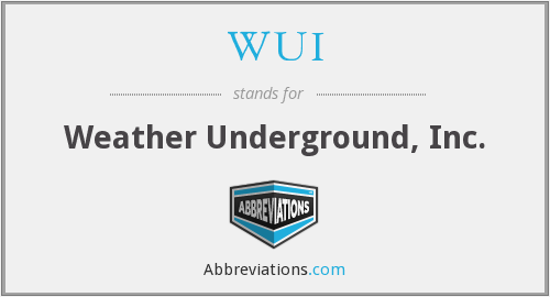 WUI - Weather Underground, Inc.