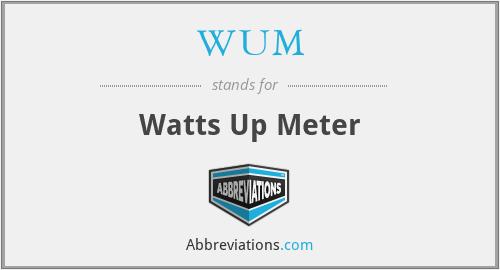 WUM - Watts Up Meter