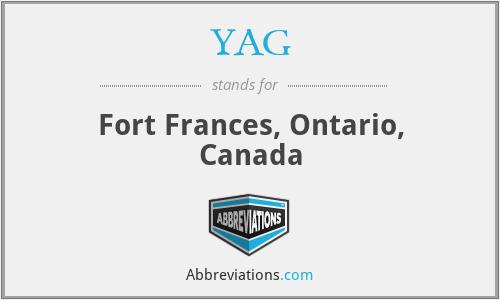 YAG - Fort Frances, Ontario, Canada