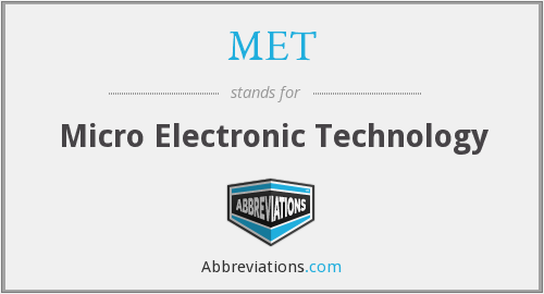 MET - Micro Electronic Technology