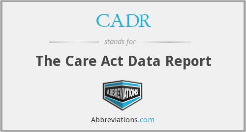 CADR - The Care Act Data Report