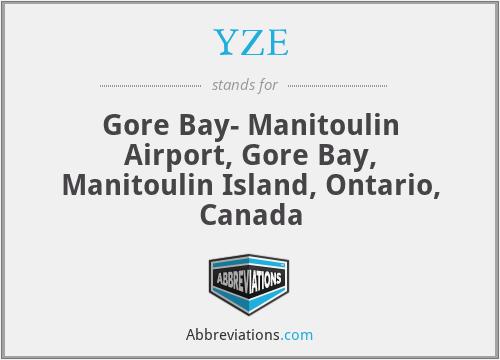 YZE - Gore Bay- Manitoulin Airport, Gore Bay, Manitoulin Island, Ontario, Canada