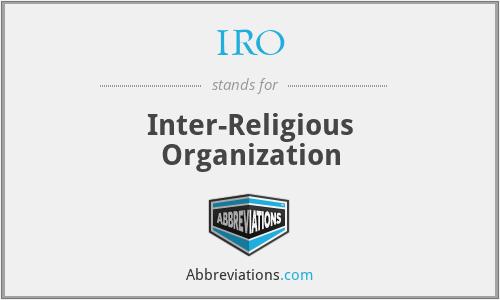 IRO - Inter-Religious Organization