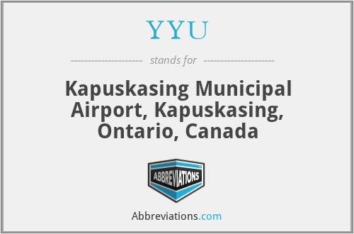 YYU - Kapuskasing Municipal Airport, Kapuskasing, Ontario, Canada