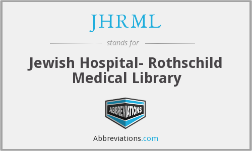 What does JHRML stand for?