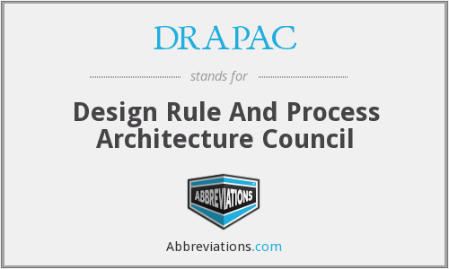 DRAPAC - Design Rule And Process Architecture Council