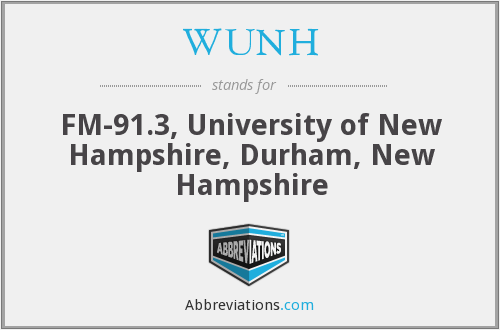 WUNH - FM-91.3, University of New Hampshire, Durham, New Hampshire