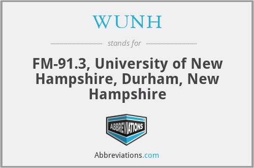 WUNH - FM-91.3, University of New Hampshire, Durham, New Hampshire