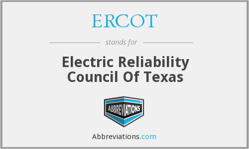 What does ERCOT stand for?