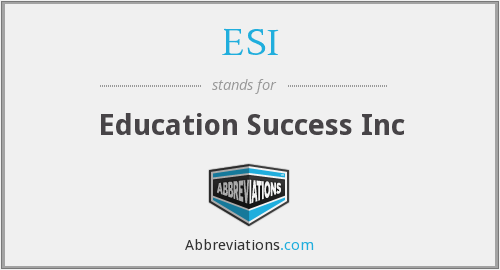 ESI - Education Success Inc