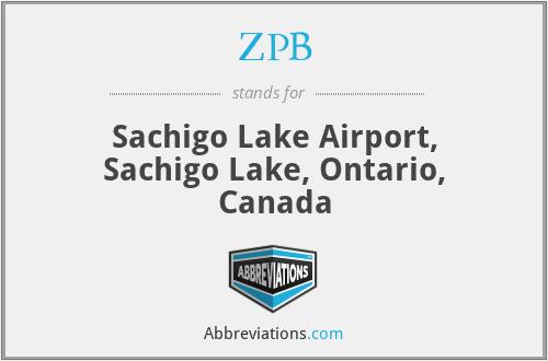 ZPB - Sachigo Lake Airport, Sachigo Lake, Ontario, Canada