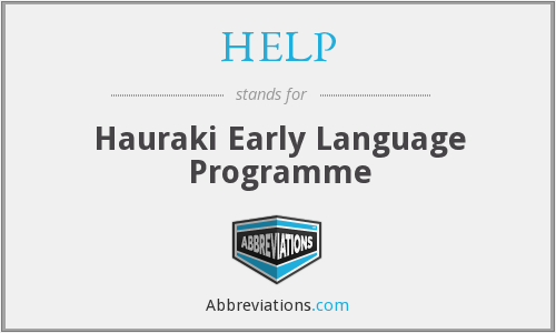 HELP - Hauraki Early Language Programme