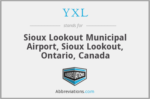 YXL - Sioux Lookout Municipal Airport, Sioux Lookout, Ontario, Canada