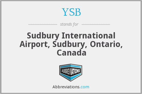 YSB - Sudbury International Airport, Sudbury, Ontario, Canada