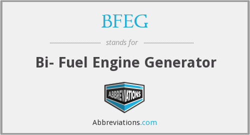 BFEG - Bi- Fuel Engine Generator
