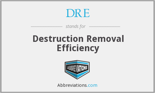 DRE - Destruction Removal Efficiency